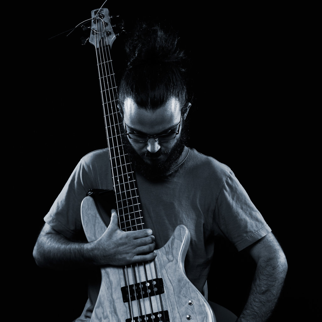 The bass player