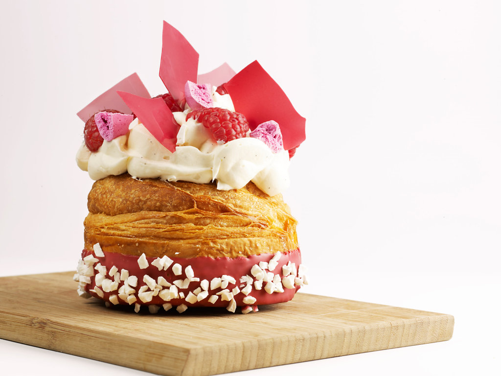 Wonderful puff pastry with a filling